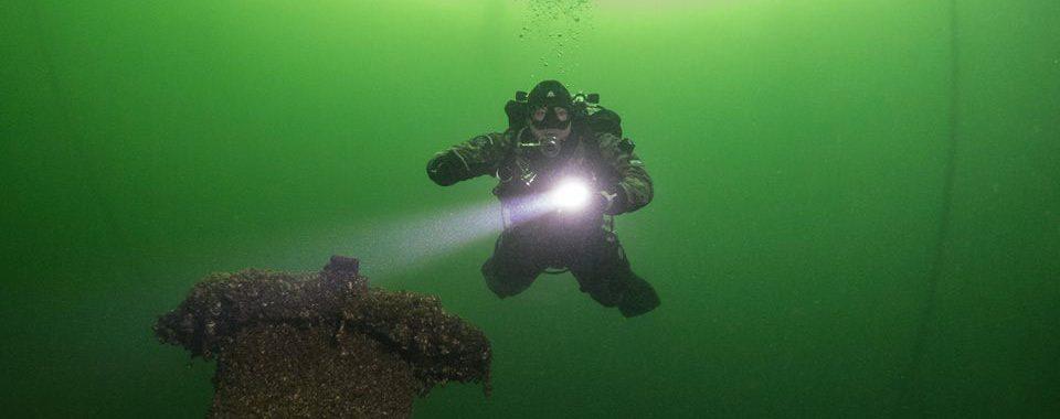 Tauchen im Schweriner See