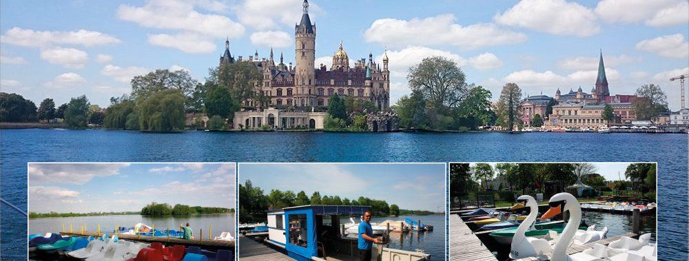 Auf dem Wasser in Schwerin