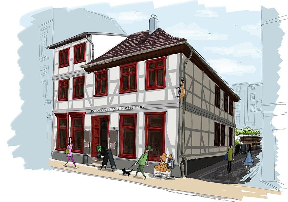 Das Kartoffelhaus in der Buschstraße