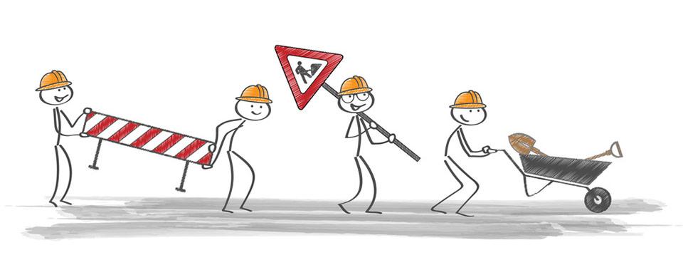 Strassenbauarbeiten Rogahner Straße